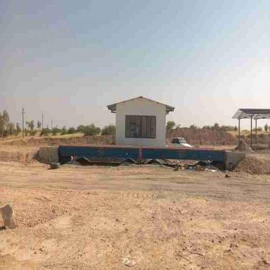 فروش و نصب باسكول 60 تن بتن فلز پيش ساخته