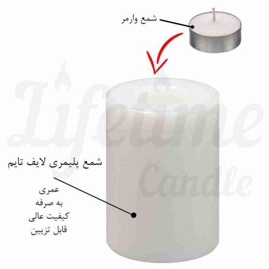 "شمع پلیمری لایف تایم ""عمری"""