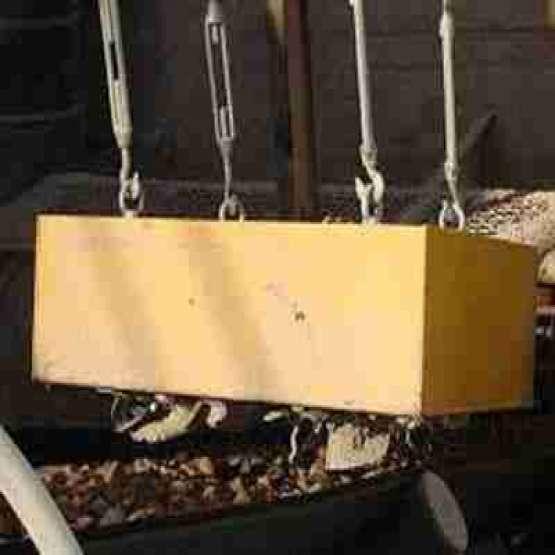 جداکننده مغناطیسی روی نوار نقاله( سپراتور اورباند)