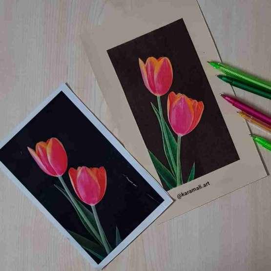 آموزش مجازی خودکار رنگی و خصوصی سیاه قلم سبک هایپر رئال